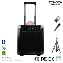 8 Inches Plastic Portable PA System Speaker with Battery