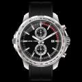 sport men watch chronograph quartz watch silicone belt