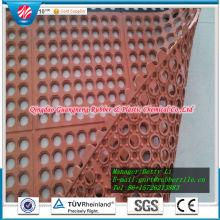Tapis en caoutchouc résistant à l'acide de tapis de caoutchouc antidérapage de tapis en caoutchouc de trou de natte coloré