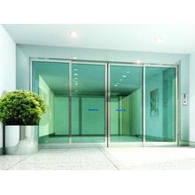 Porte coulissante en verre automatique commerciale