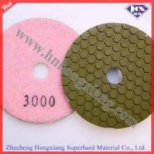 Almofada de polimento seca de alta qualidade de diamante de 100 mm para piso