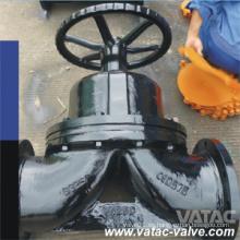 Neumático y volante Weir Type Ci / C. I / Válvula de diafragma con brida FF de hierro fundido