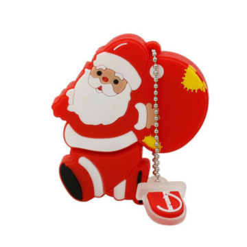 Natal Santa Cláusula Shaped USB Flash Drive