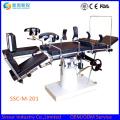 Tables de chirurgie chirurgicales orthopédiques radiolucentes manuelles de haute qualité