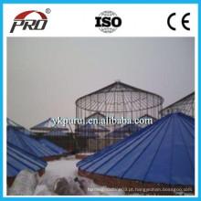 Máquina de silo de aço galvanizado / Equipamento de formação de silo espiral de aço
