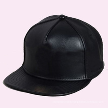 Cheap Custom Black Leather Snapback Hat