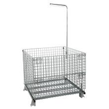 Contenedor de almacenamiento de jaula plegable de almacén