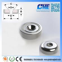 N40m D15.875X5.08mm Strong Neodymium Pot Permanent Magnet