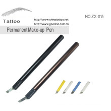 Grado médico de aluminio de tatuaje lápiz lápiz labial lápiz del tatuaje de la ceja de la ceja