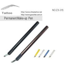 Médico grau alumínio manual tatuagem caneta lábio eyeliner caneta tatuagem sobrancelha