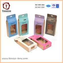 Fabricante, caixa de embalagem colorida de doces com janela