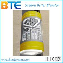 Eac 1000 кг Хорошее оформление Панорамный лифт без машинного зала