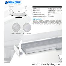 Carcasa de aluminio de perfil de 23X10mm para iluminación de tira LED