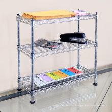 Регулируемая DIY многофункциональная металлическая проволочная стеллаж для офиса (CJ602060C3C)
