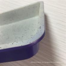 Sartén para pasteles cuadrada de colores para hornear de color púrpura
