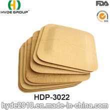 BPA Free Disposable Square Bamboo Plate for Your Party (HDP-3022)