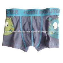 Boys' Boxer Shorts, Made of 95% Cotton and 5% Spandex, Jersey 16gsm, Comes in Mix Gray and Navy Blue