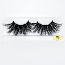 Handmade Bushy 100% Real Mink Fur Eyelashes 3D 5D 25mm Mink Lash with Customized Packaging