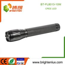 Fabrik Versorgung 3 C Zelle betrieben Jagd Lange Strahl Abstand Einstellbare Fokus Aluminium Best High Bright 10w cree LED-Taschenlampe