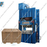 Hot press compressed wood flat board machine
