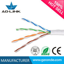 CE / ROHS / ISO9001 4P 24AWG 0.50MM Red interna del cable de Cat5