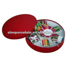 Фарфоровая чашка с блюдцем в подарочной коробке