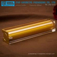 ZB-PK100 100ml gros et lourd excellente qualité gros et grand carré airless cosmétique bouteilles de 100ml