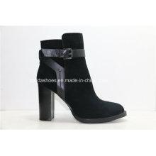 Bottes en cuir féminin 15fw High Heels pour Sexy Fashion Lady