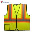 2018 Hot selling best 120gsm bule solid reflective safety vest