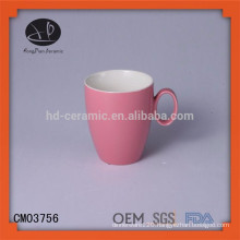 Hot selling raw material porcelain mug plastic mug ceramic mug