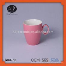Venda quente de porcelana de matéria-prima caneca caneca de plástico caneca de cerâmica