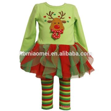 Langarmpullover 2 Stück Pyjama Set für Kinder Weihnachten