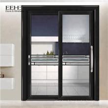 Grande porte en verre coulissante en aluminium