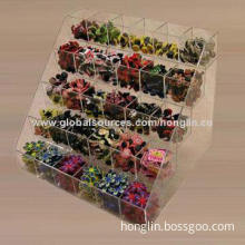Acrylic Gift Display, Made of Clear Acrylic, OEM Orders are Welcome