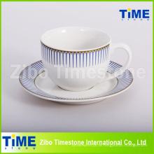 12PC Steinzeug 200ml Keramik Tasse und Untertasse (91006-008)