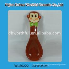 Keramik Löffel Rest mit Affe Figur