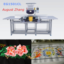 China Shenzhen Elucky 15 colors high speed big size single head embroidery machine with top quality for textile embroidery