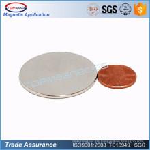 Besonders angefertigt Seltener Erde Ndfeb Münzen-Magnet für Verkauf