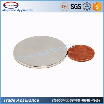 Customized Rare Earth Ndfeb Coin Magnet for sale