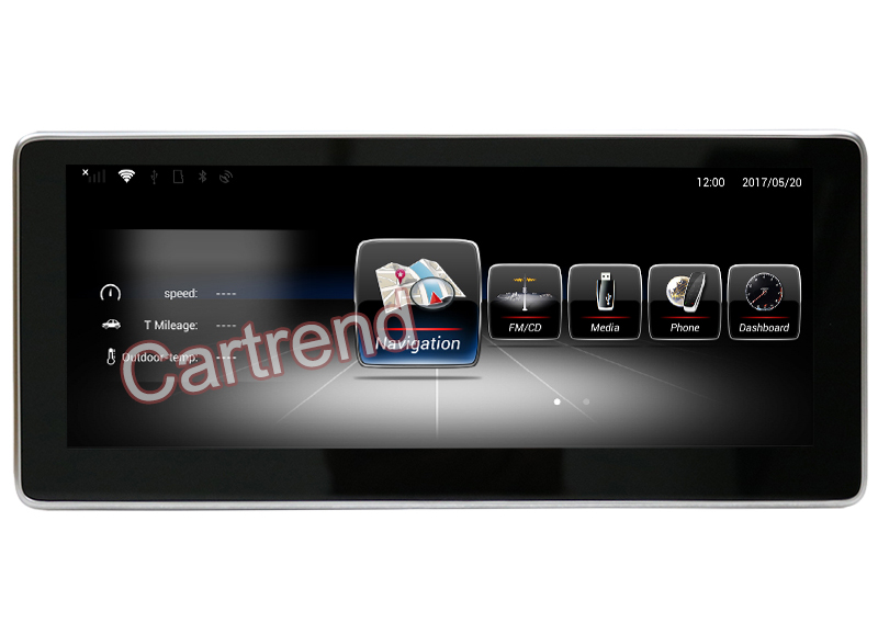 10.25 inch Mercedes-Benz Android touch screen GPS navigation player