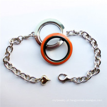 New Designs rodada de vidro flutuante Locket pulseira para encantos