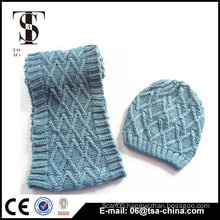 2016 fashion new winter scarf and beanie, Christmas gift scarf hat set