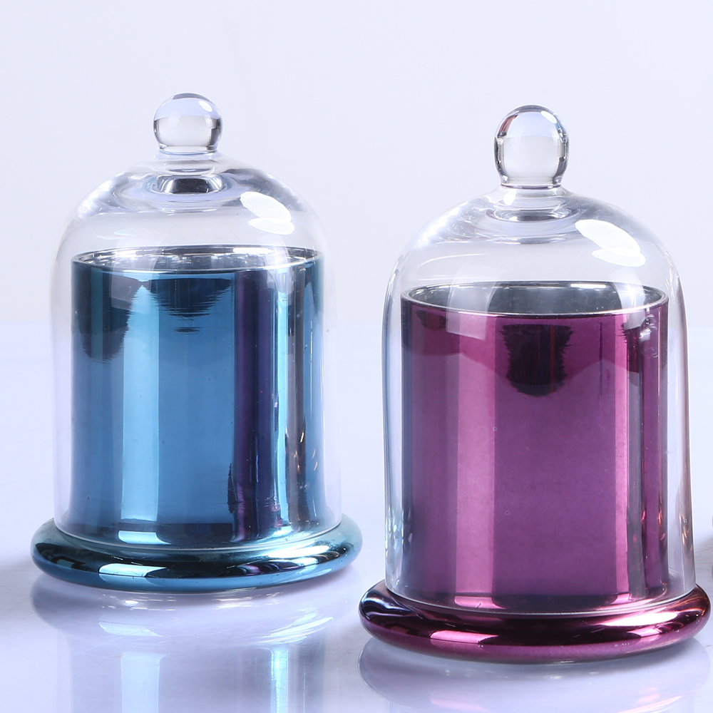Br 9980 2colorful Decorative Domed Glass Candle Cloche Jar