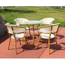 white fabric garden furniture sets outdoor wood arm chair