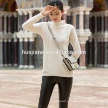 diseño simple de suéter de cachemira de mujer