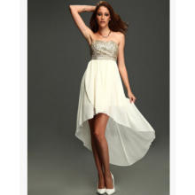 Sequin bra chiffon dress sexy dress dress in the trailing tail nightclub dance party dress