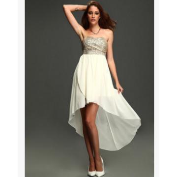 Sequin bra chiffon dress sexy dress dress in the trailing tail nightclub dance party dress