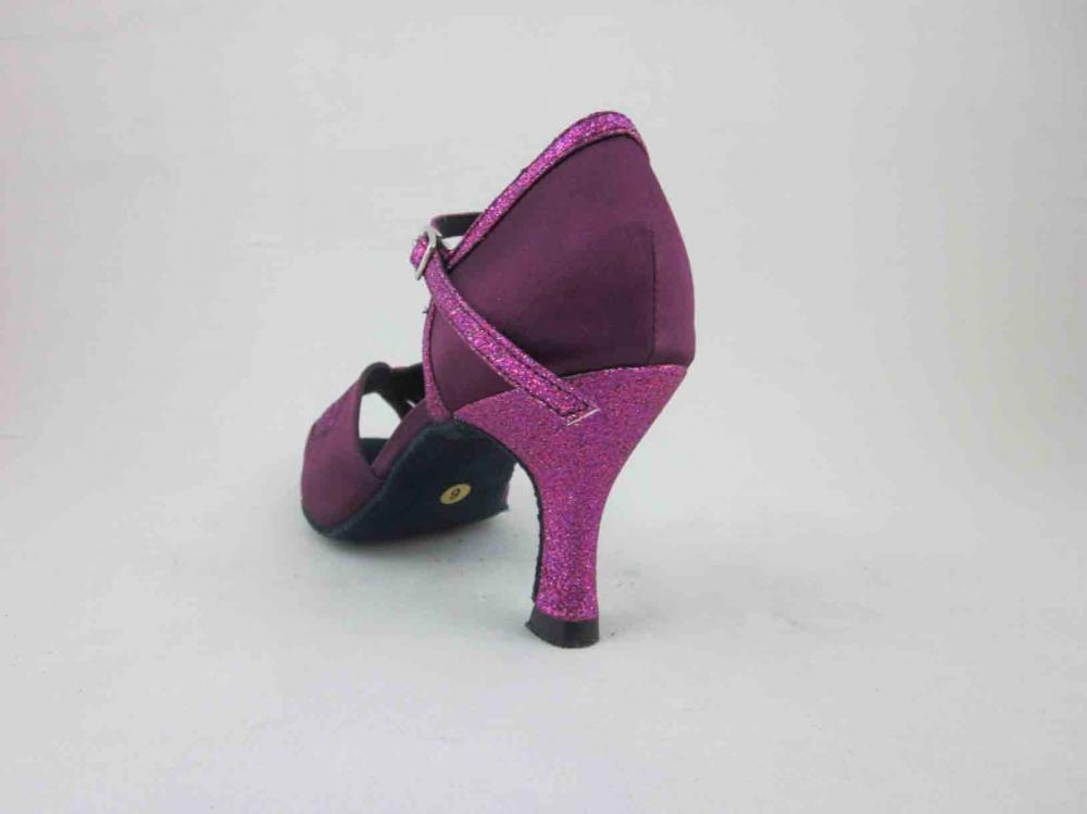 Womens Purple Satin Salsa Shoes