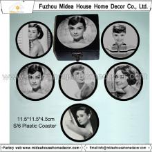 Venta caliente Customzied Round Blank Plastic Coasters