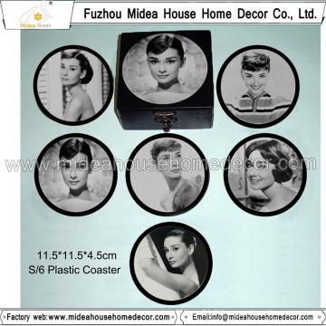 Hot Sale Customzied Round Blank Plastic Coasters